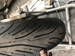 puncture repair on tyre Traxden Motorcycles