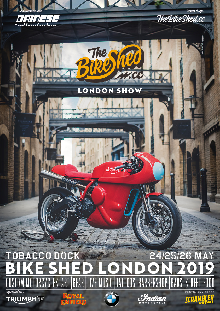 Motorcycle events 2019 Bike-Shed-London flyer